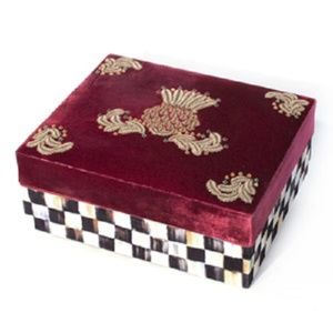 mackenzie childs Storage & Organization - mackenzie childs highbanks velvet jewelry box new!